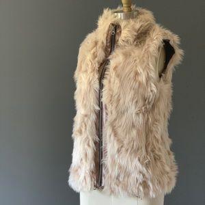 Faux Leather & Fur Vest